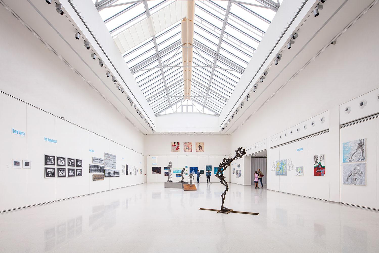 Instalace výstavy Jizerská 50 Mánes