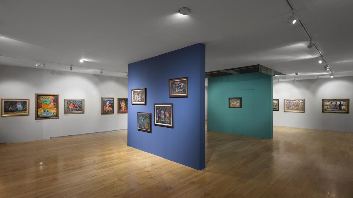 instalace výstavy Adolf Born Sovovy mlýny
