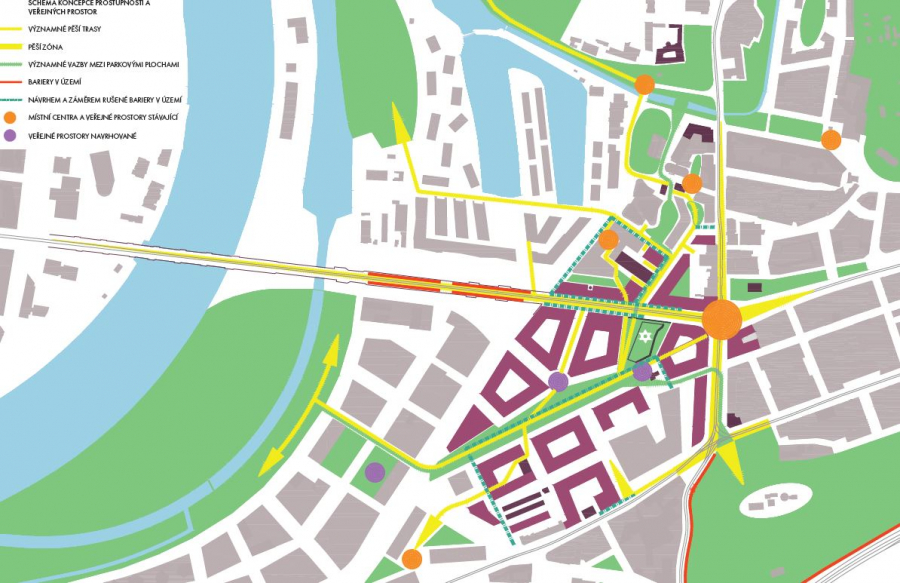 schéma koncepce prostupnosti a veřejných prostor